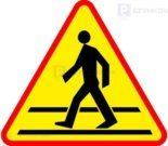 Tymczasowe przejście dla pieszych przy Osiedlu Sterowców w Dywitach